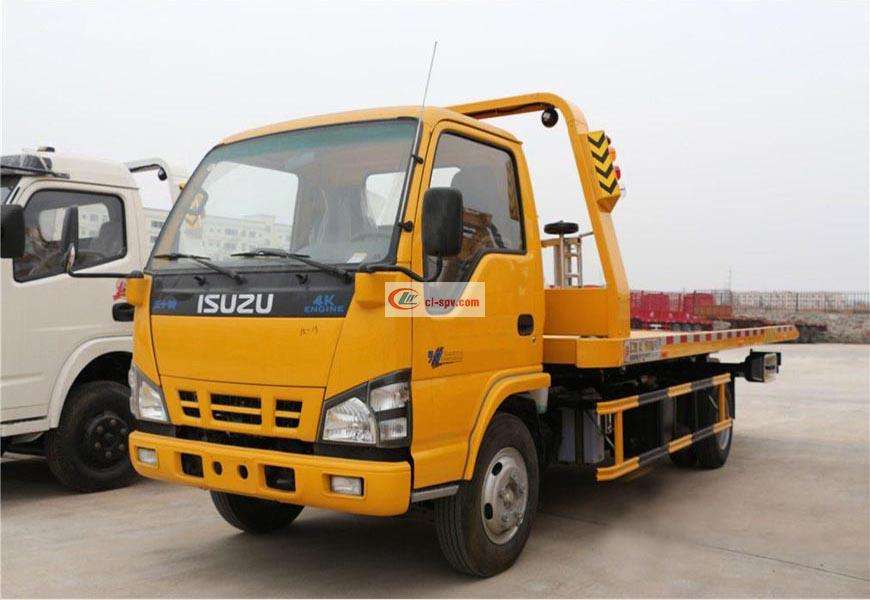 Isuzu CLW5070TQZQ5 one for two wrecker truck