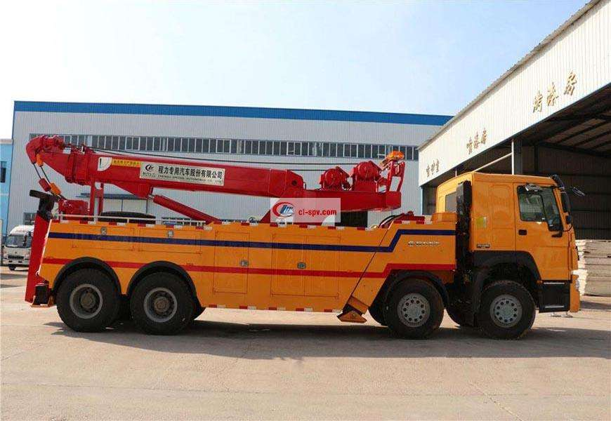 Sinotruk Howo's front four rear eighty-one wrecker truck