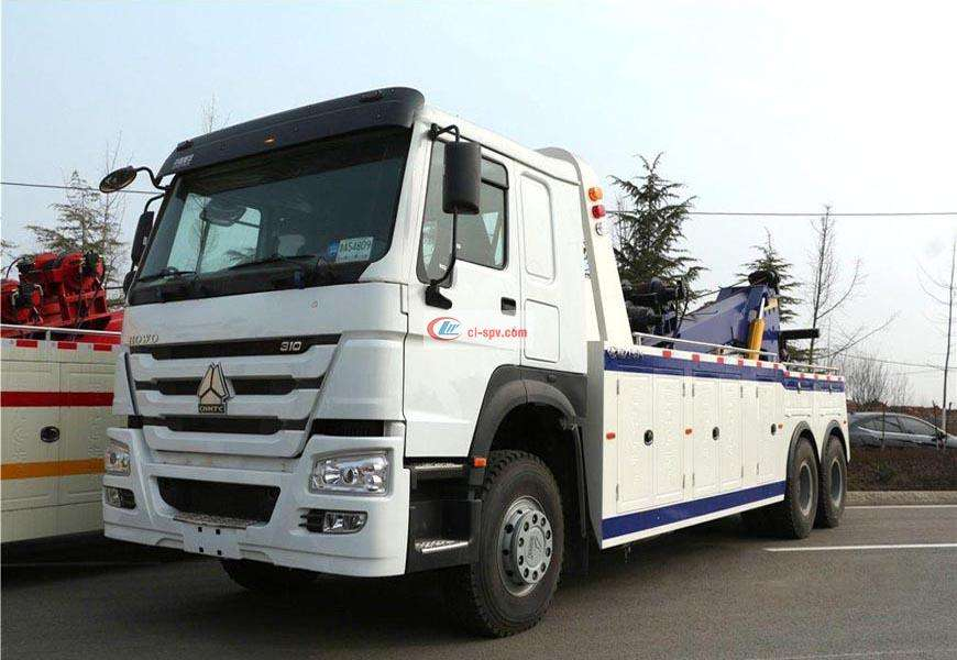 Sinotruk rear eight-wheel CLW5250TQZZ5 one-to-one wrecker truck