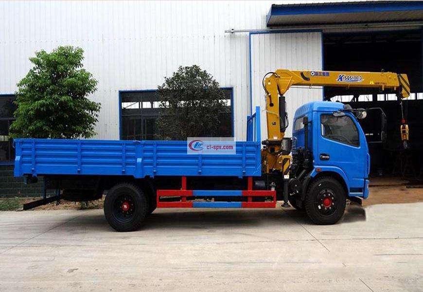 Dongfeng Duolika 4 Grue de camion à flèche droite de tonne