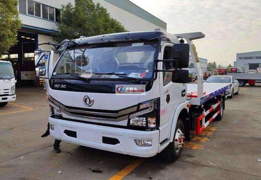 东风D7平板拖车道路救援车图片