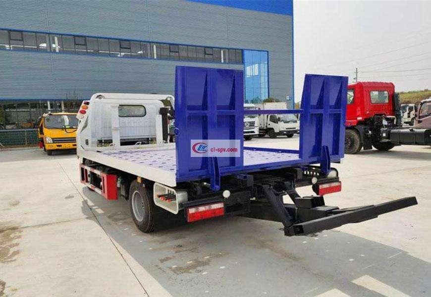 国六东风D7平板拖车道路救援车