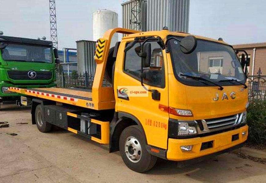 JAC Blue Flat Wrecker Truck National VI