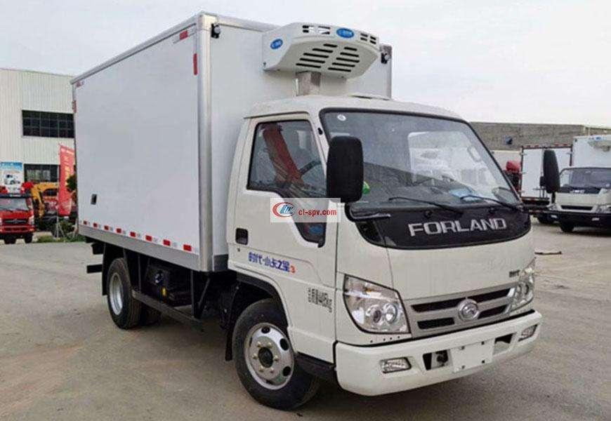 福田时代小卡之星3冷藏车厢体图片