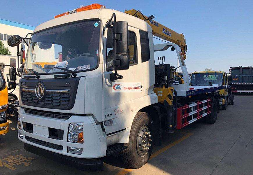 Dongfeng Tianjin flatbed wrecker wrecker for China VI