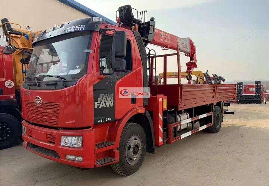 Jiefang single bridge 8-ton truck-mounted crane country VI