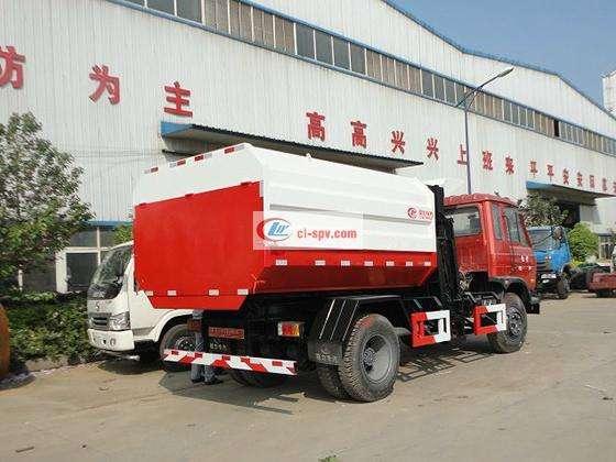 东风145 10 cbm挂桶垃圾车