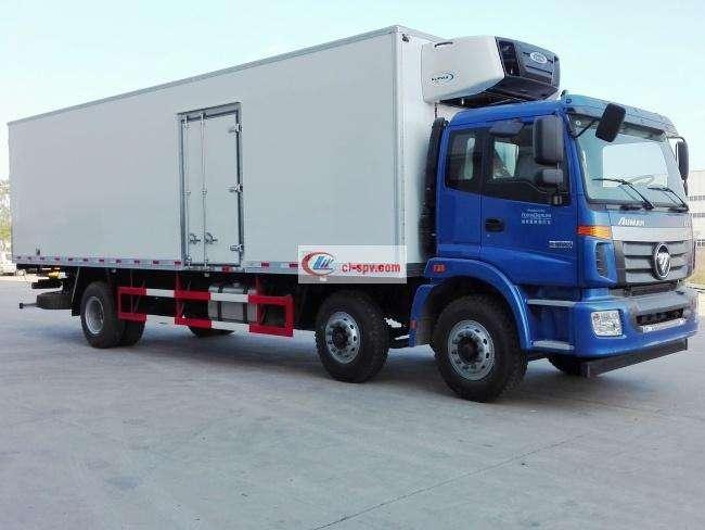 福田欧曼ETX前四后四9.6米冷藏车BJ5253XLC-AA